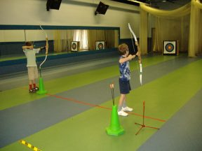 Archery practice, children's parties, holiday activities