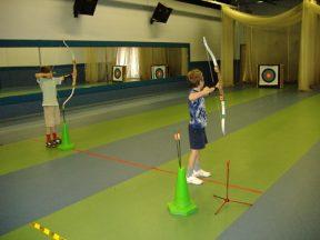 Archery practice, children's parties, holiday activities