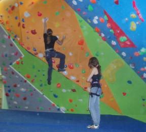 Indoor climbing wall, childrens holiday activities, birthday parties
