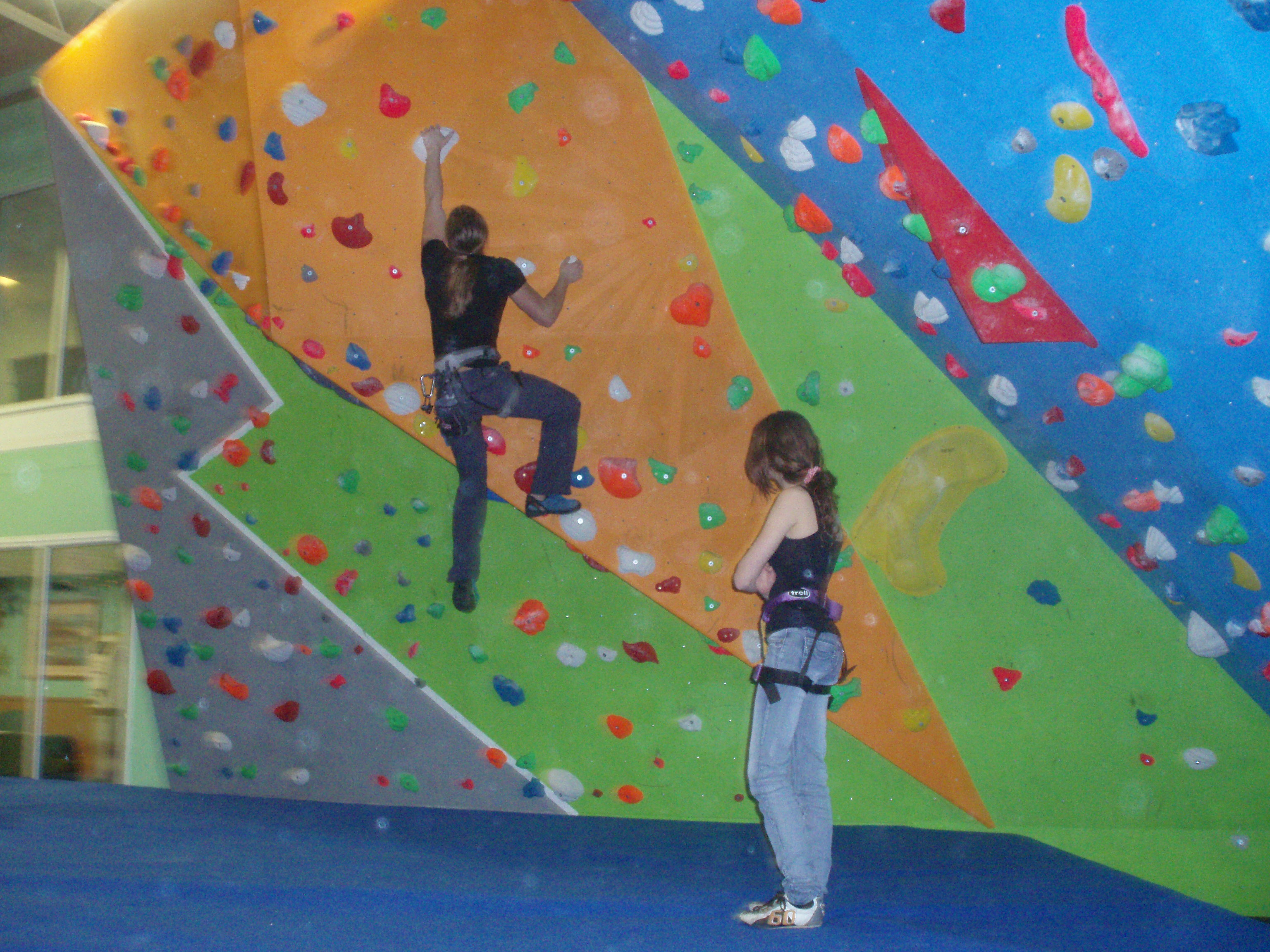 Indoor climbing wall, childrens holiday activities, birthday parties