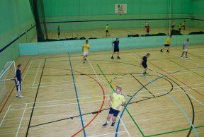 Sports hall hire, indoor football, basketball, volleyball, netball, badminton, indoor hockey
