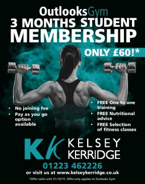 Student OFFER - 3 months Outlooks Gym membership only £60