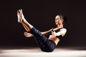Pilates fitness class
