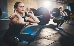 women weight lifting