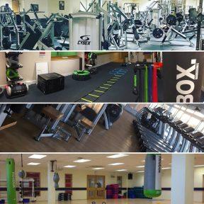 Gym studio collage