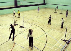 sport centre with badminton courts